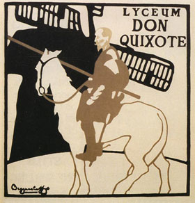 Don Quixote poster design by J and W Beggarstaff
