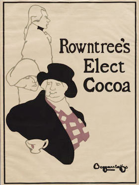 Rowntree's Elect Cocoa poster by J and W Beggarstaff, Beggarstaff Brothers
